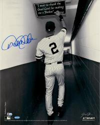 "Derek Jeter New York Yankees Autographed 16"" x 20"" Sepia Tunnel Photograph"