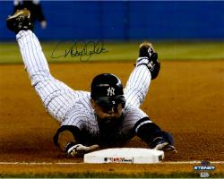"Derek Jeter New York Yankees Autographed 16"" x 20"" Sliding Into 3rd Base Photograph"