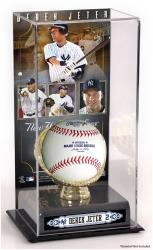 Derek Jeter New York Yankees Gold Glove Baseball Display Case - Mounted Memories