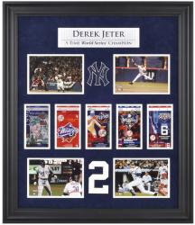 Derek Jeter New York Yankees World Series Framed Collectible with Five World Series Replica Tickets