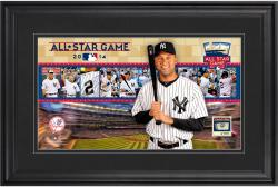 Derek Jeter New York Yankees 2014 MLB All-Star Game Framed 10'' x 18'' Collage with Piece of Game-Used Baseball-Limited Edition of 100