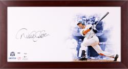 "Derek Jeter New York Yankees Framed Autographed 32"" x 16"" Photograph"