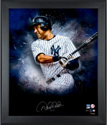 Derek Jeter New York Yankees Framed Autographed 20'' x 24'' In Focus Photograph with Multiple Inscriptions --- - Mounted Memories