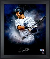 Derek Jeter New York Yankees Framed Autographed 20'' x 24'' In Focus Photograph with Multiple Inscriptions -- - Mounted Memories