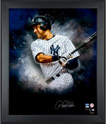 Derek Jeter New York Yankees Framed Autographed 20'' x 24'' In Focus Photograph with Multiple Inscriptions - Mounted Memories