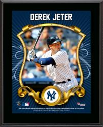 Derek Jeter New York Yankees Sublimated 10.5'' x 13'' Stylized Plaque - Mounted Memories