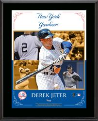 Derek Jeter New York Yankees Sublimated 10.5'' x 13'' Composite Plaque - Mounted Memories