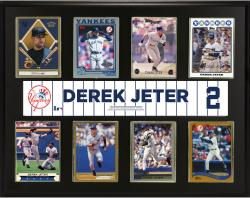 "Derek Jeter New York Yankees Sublimated 12"" x 15"" Trading Card Plaque"