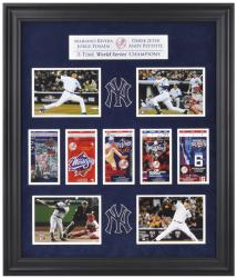 Derek Jeter, Mariano Rivera, Jorge Posada, and Andy Pettitte New York Yankees World Series Framed Collectible with Five World Series Replica Tickets - Mounted Memories