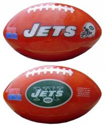 New York Jets Cut-Stone Football - Mounted Memories