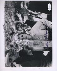 JIM ARNESS AMANDA BLAKE GUNSMOKE JSA SIGNED 8x10 PHOTO AUTHENTIC AUTOGRAPH