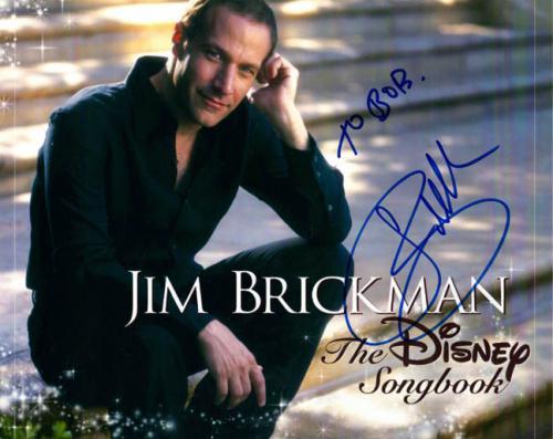 Jim Brickman Autographed Signed Disney Photo UACC RD COA AFTAL