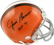 Jim Brown Cleveland Browns Autographed Riddell Mini Helmet with HOF 71 Inscription