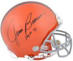 Cleveland Browns Jim Brown Hall of Fame Autographed Helmet - Mounted Memories