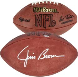 Cleveland Browns Jim Brown Autographed Football - Mounted Memories