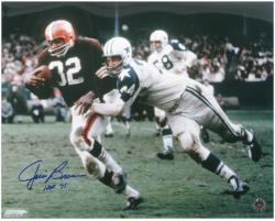 "Jim Brown Cleveland Browns Autographed 16"" x 20"" Action Photograph with HOF 71 Inscription"