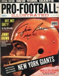 """Jim Brown Cleveland Browns Autographed But Not Dirty! Pro Football Illustrated Magazine with """"HOF 71"""" Inscription"""