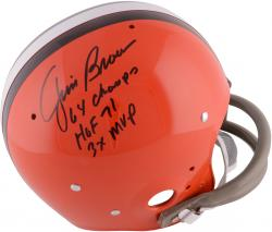 Jim Brown Cleveland Browns Autographed TK Suspension Helmet with ''1964 NFL Champs'' Inscription