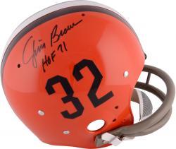 Jim Brown Cleveland Browns Autographed TK Suspension Helmet with ''HOF 71'' Inscription