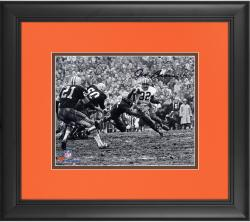 """Jim Brown Cleveland Browns Framed Autographed 8"""" x 10"""" Horizontal in Mud Photograph"""