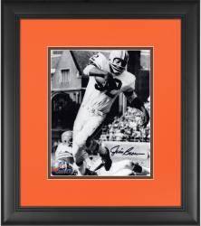 """Jim Brown Cleveland Browns Framed Autographed 8"""" x 10"""" Vertical in White Photograph"""