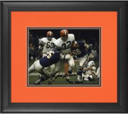 """Jim Brown Cleveland Browns Framed Autographed 8"""" x 10"""" vs Minnesota Vikings Photograph"""