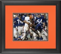 """Jim Brown Cleveland Browns Framed Autographed 8"""" x 10"""" vs. New York Giants Photograph"""
