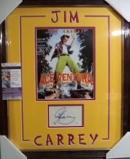 Jim Carrey Ace Ventura Signed Autographed Double Matted & Framed Jsa Coa Rare A