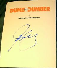 "Jim Carrey Signed Autograph Very Rare ""dumb And Dumber"" Full Movie Script & Coa"
