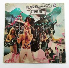 Jim Dandy Mangrum Signed Record Album Black Oak Arkansas Street Party w/ AUTO