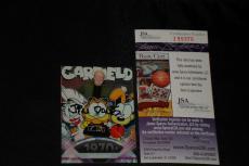 Jim Davis 2011 Topps American Pie Signed Auto Card #132 Garfield Cat Jsa Cert.