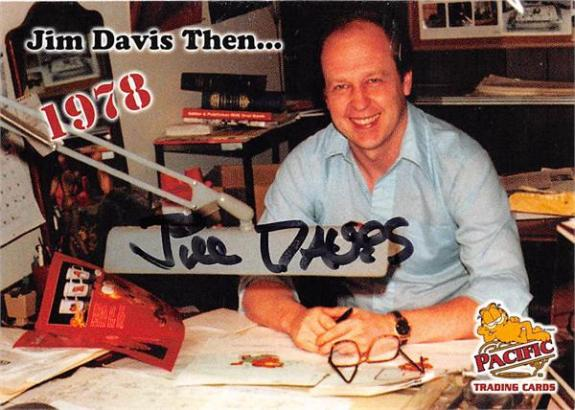 Jim Davis autographed trading card (Garfield Artist Creator) 2004 Pacific #13