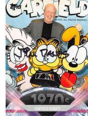 Jim Davis autographed trading card Garfield Creator Cartoonist 2011 Topps #132