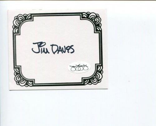 Jim Davis Garfield Author Comic Strip Cartoonist Signed Autograph Bookplate JSA