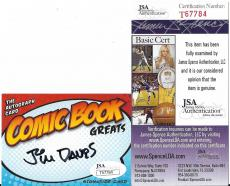 Jim Davis Garfield Creator Signed Autographed Custom Trading Card Jsa Coa Rare B
