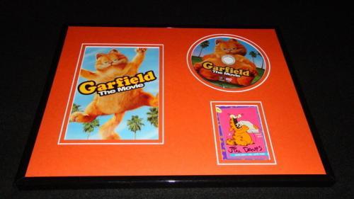 Autographed Jim Davis Photograph - Framed 11x14 Garfield DVD & Display JSA