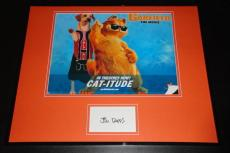 Autographed Jim Davis Photo - Framed 16x20 Poster Display Garfield Creator C