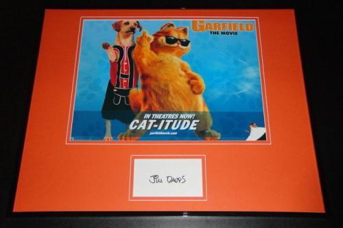 Autographed Jim Davis Photo - Framed 16x20 Poster Display Garfield Creator C