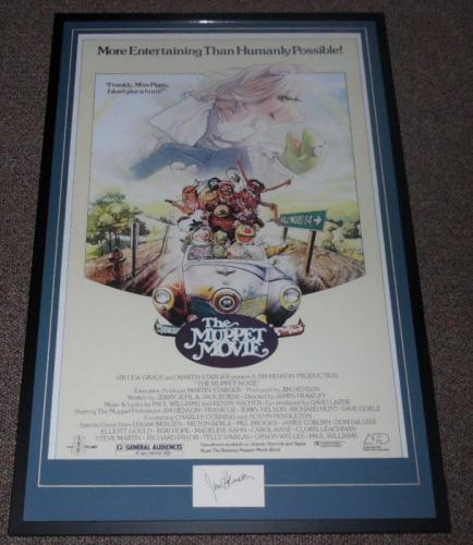 Jim Henson Signed Framed 27x41 Muppet Movie Poster Photo Display AW