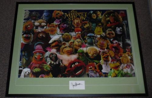 Jim Henson Signed Framed 27x41 Muppets Poster Photo Display AW