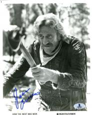 Jim James Arness  Bas Beckett Authentication Signed 8x10 Photo Autograph