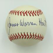 Jim James Warren Hart NFL Signed Official National League Baseball With JSA COA
