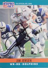 Jim Jensen Dolphins Boston U Autograph 1990 NFL Pro Set #180 Signed Card 16J