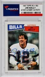 Jim Kelly Buffalo Bills Autographed 1987 Topps Rookie # 362 Card