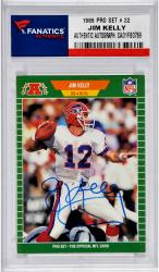 Jim Kelly Buffalo Bills Autographed 1989 Pro Set # 22 Card