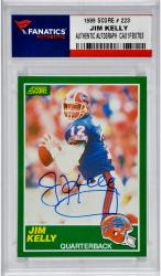 Jim Kelly Buffalo Bills Autographed 1990 Score # 223 Card