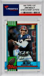 Jim Kelly Buffalo Bills Autographed 1990 Topps # 207 Card