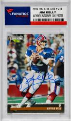 Jim Kelly Buffalo Bills Autographed 1995 Pro Line Live # 215 Card