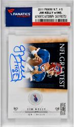 Jim Kelly Buffalo Bills Autographed 2011 Panini National Treasures # 5 Card with HOF 02 Inscription