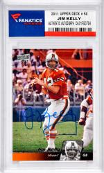 Jim Kelly Buffalo Bills Autographed 2011 Upper Deck # 50 Card